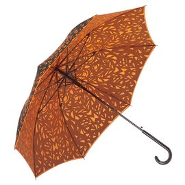 San Francisco Umbrella Butterfly Wing - Black, Flame Red/Orange w/ Sleeve