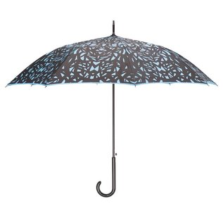San Francisco Umbrella Butterfly Wing - Black/Blue w/ Sleeve