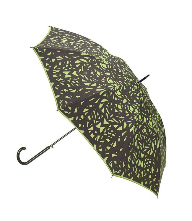 San Francisco Umbrella Butterfly Wing - Black/Green w/ Sleeve