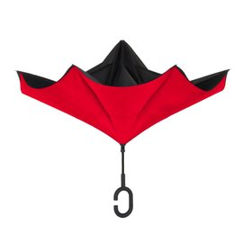UnbelievaBrella™ Reverse Umbrella - Black/Red