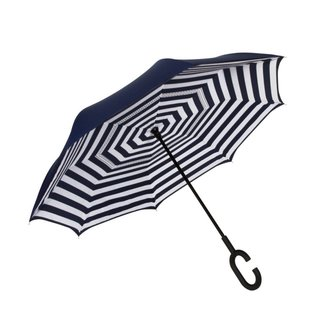 UnbelievaBrella™ Reverse Umbrella - Blue/Stripes