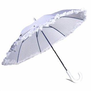Vista Ruffled Umbrella for Kids - White