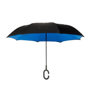 Reverse Umbrella - Black/Blue