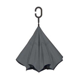UnbelievaBrella™ Reverse Umbrella - Black/Gray