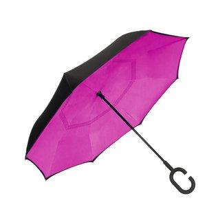 UnbelievaBrella™ Reverse Umbrella - Black/Pink