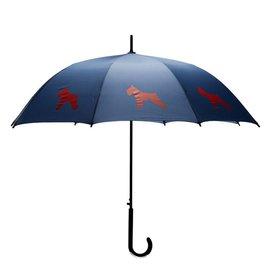 San Francisco Umbrella Schnauzer Umbrella Blue/Red
