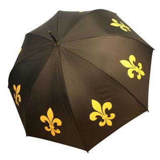 San Francisco Umbrella Animal Umbrella - Fleur de Lys - Blk/Gold