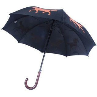 San Francisco Umbrella Animal Umbrella - Horse - Blk/Orange