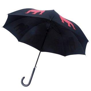 San Francisco Umbrella English Bulldog - Blk/Red