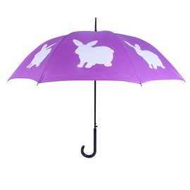 San Francisco Umbrella Rabbit Umbrella Purple/White
