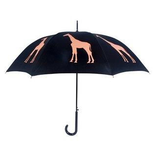 San Francisco Umbrella Animal Umbrella - Giraffe - Blk/Orange