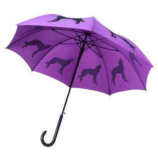 San Francisco Umbrella Animal Umbrella - Wolf - Purple/Blk