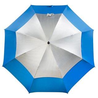 UPF 50+ Golf Umbrella Ocean/Silver