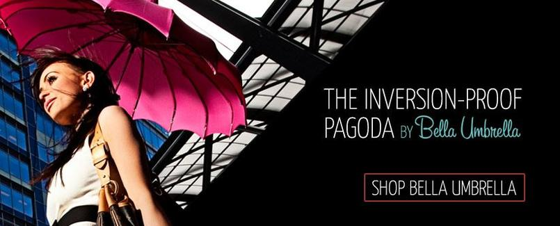 The Inversion Proof Pagoda by Bella Umbrella
