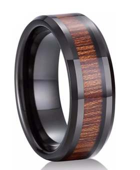 Konifer Ceramic and wood ring #CT001