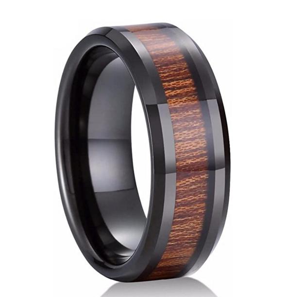 Konifer Ceramic and wood ring #CT001