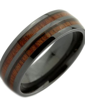 Konifer Ceramic and wood ring #CT002