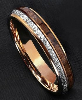 Konifer Tungsten and wood Ring #KT015