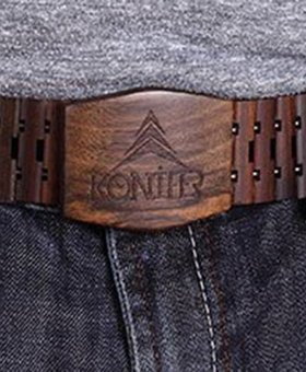 Konifer Ceinture en bois de santal brun KONIFER