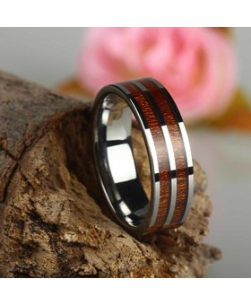 Konifer Tungsten and wood Ring #KT002