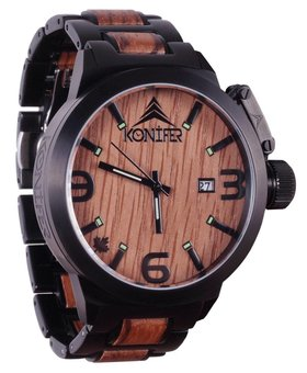 Konifer Karbon Black Matte Stainless + Zebra | Watch