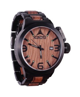 Konifer Karbon Black Matte Stainless + Zebra | Montre