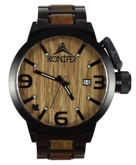 Konifer Karbon  Black Matte Stainless + Green Sandalwood