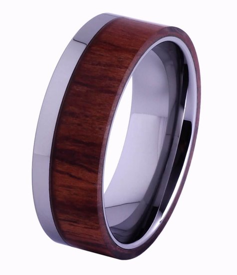 Konifer Tungsten and wood Ring #KT006