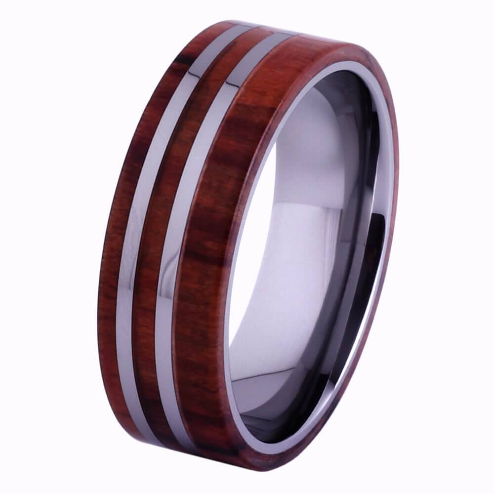 Konifer Tungsten and wood Ring #KT005