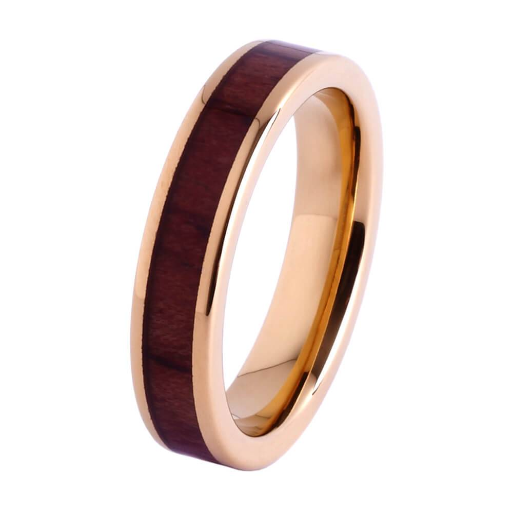 Tungsten and wood Ring #KT009