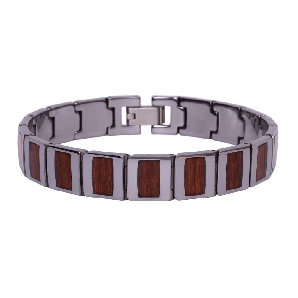 Tungsten and Wood Bracelet #BT002