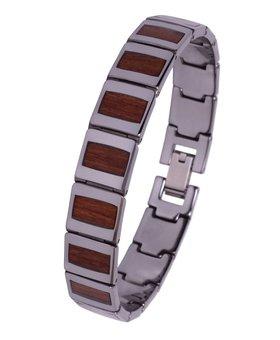 Konifer Bracelet de Tungstène et Bois #BT002