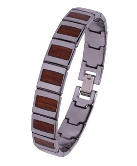 Konifer Tungsten and Wood Bracelet #BT002