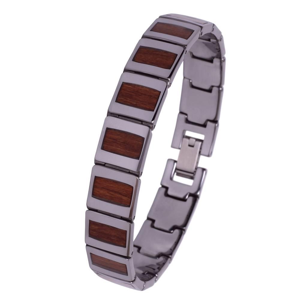 Tungsten and Wood Bracelet #BT002