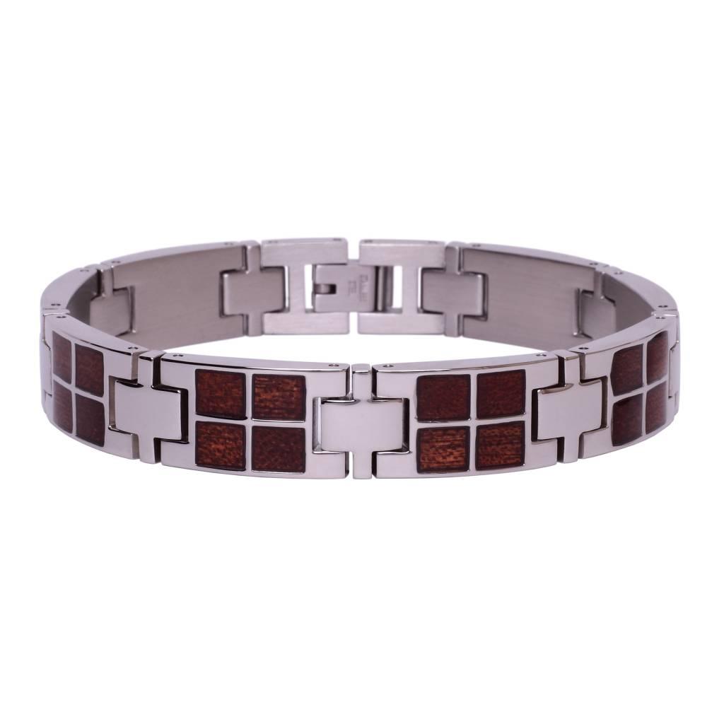 Bracelet de Stainless et Bois #BT001