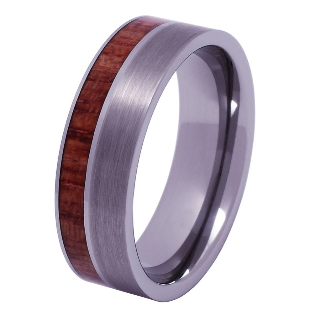 Konifer Tungsten and wood ring #KT011