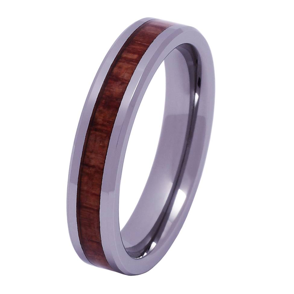 Konifer Tungsten and wood ring #KT010