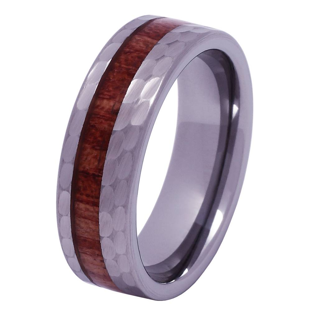 Konifer Tungsten and wood ring #KT012