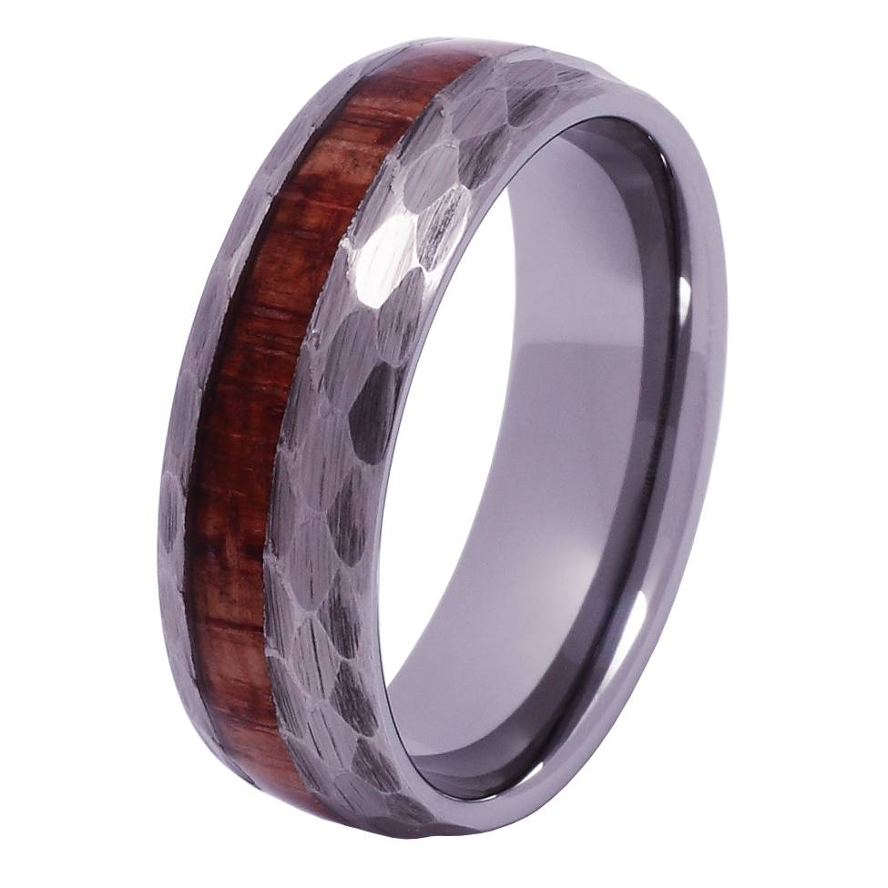 Konifer Tungsten and wood ring #KT014