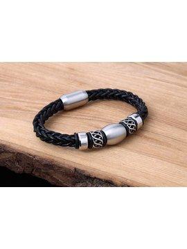 Konifer Bracelet de Cuir et Stainless #KC015BK