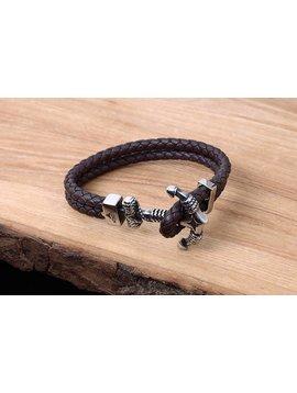 Konifer Bracelet de Cuir et Stainless #KC011BR