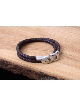 Konifer Bracelet de Cuir et Stainless #KC007BR