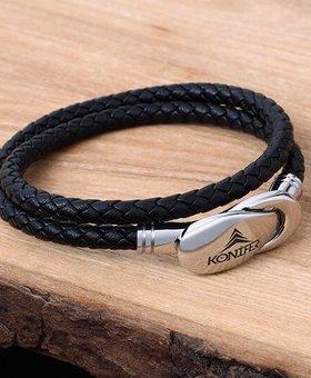 Bracelet de Cuir et Stainless #KC007BK
