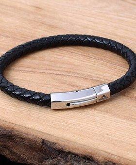 Bracelet de Cuir et Stainless #KC006BK