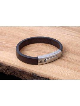Konifer Bracelet de Cuir et Stainless #KC004BR