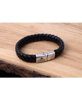 Bracelet de Cuir et Stainless #KC002BK