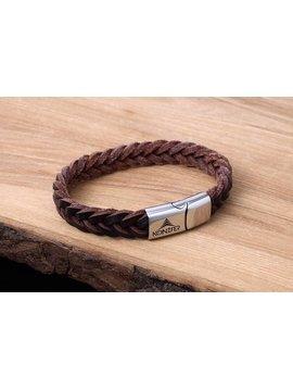 Konifer Bracelet de Cuir et Stainless #KC001BR
