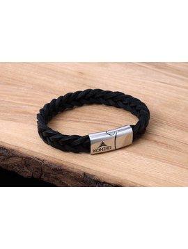 Konifer Bracelet de Cuir et Stainless #KC001BK