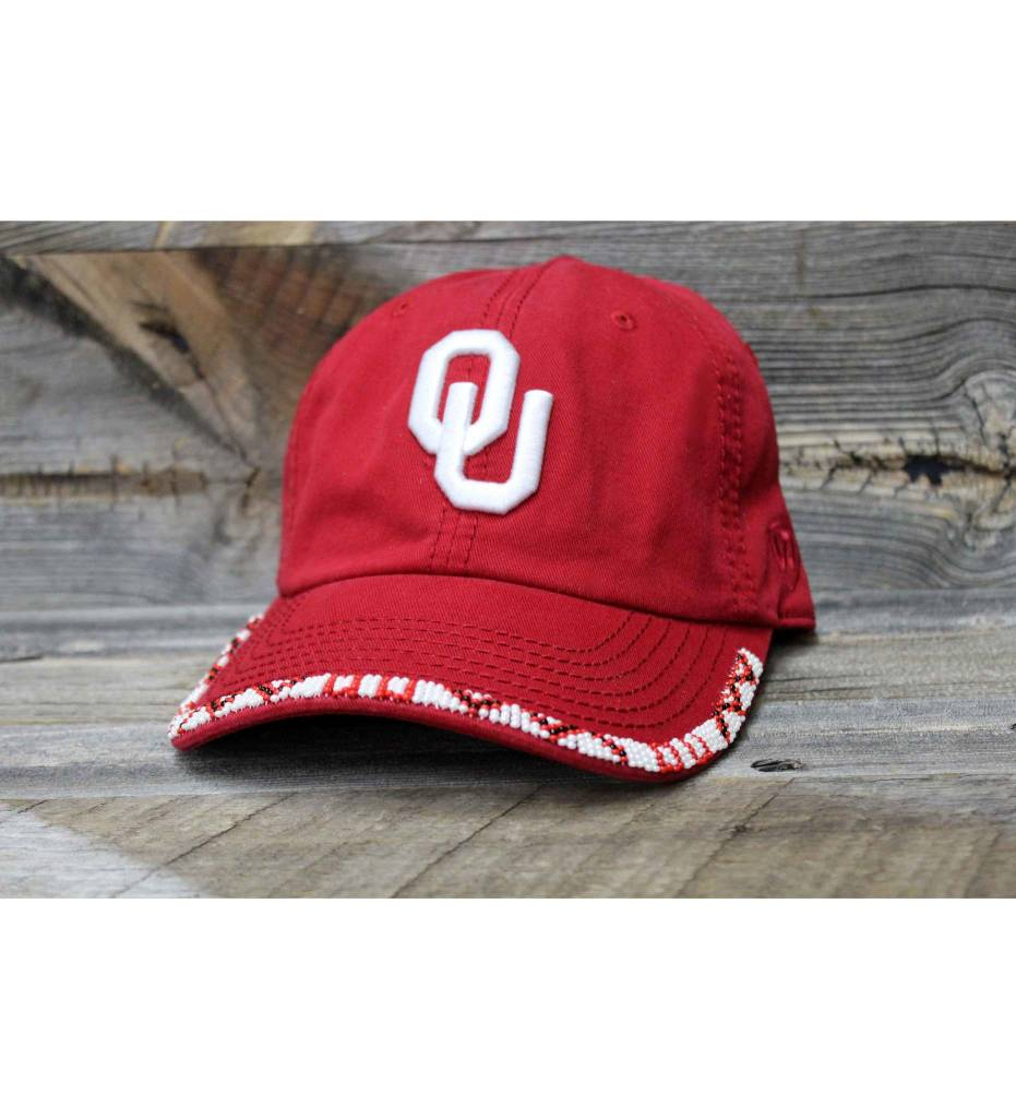 SL OU Red Beaded Cap