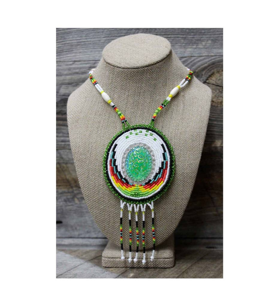 SL Beaded Medallion Multi Color